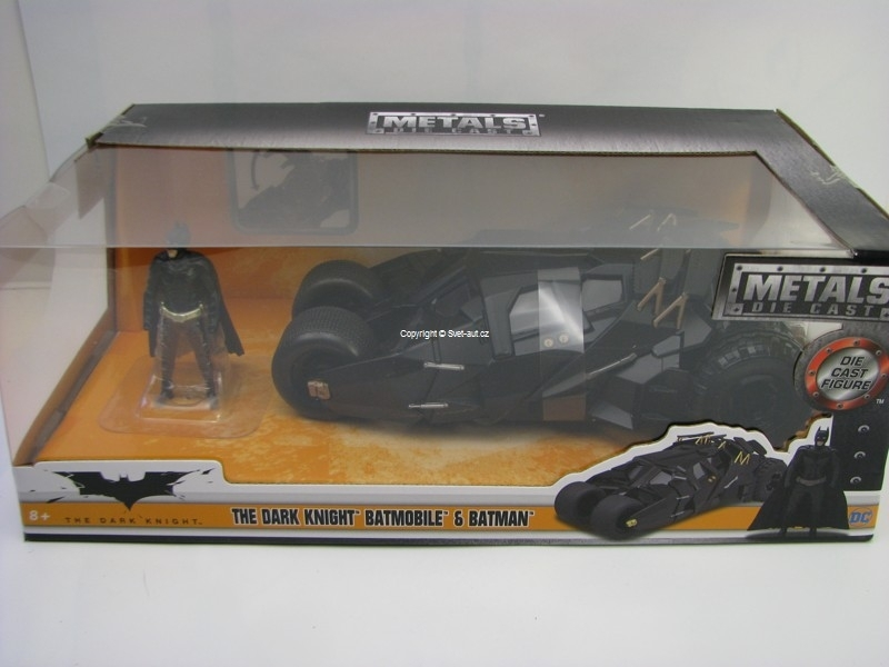 Batmobile s Figurkou Batman 2008 1:24 Jada Toys